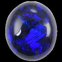 Черный опал голубого цвета